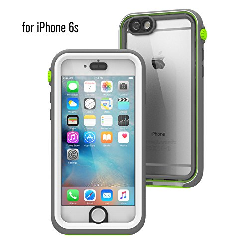 Waterproof case for iPhone 6s, Shock Proof, Drop Proof by Catalyst for iPhone 6s with High Touch Sensitivity ID (Green Pop)