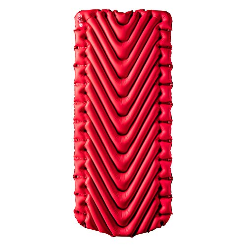 Klymit Insulated Static V Luxe Sleeping Pad, Extra Wide (30 inches), Maximum Comfort for Car Camping, Travel, and Backpacking