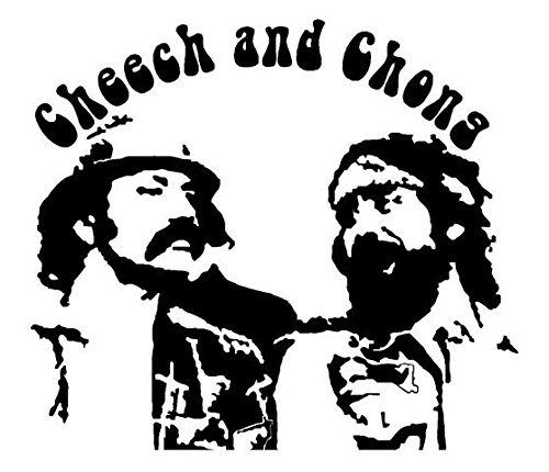 Cheech and Chong Decal Sticker - Peel and Stick Sticker Graphic - - Auto, Wall, Laptop, Cell, Truck Sticker for Windows, Cars, Trucks