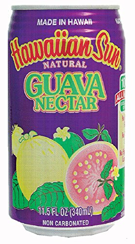 Hawaiian Sun Nectar, Guava, 11.5-Ounce (Pack of 24)