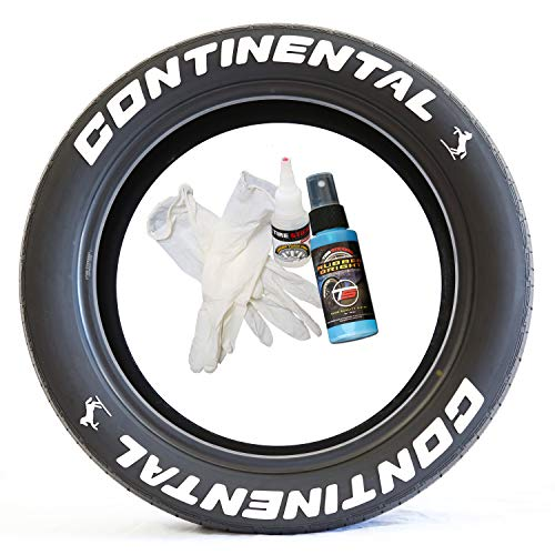 Continental Tire Lettering - DIY Permanent Tire Lettering Kit - Custom Sizing/Colors (Pack of 4)