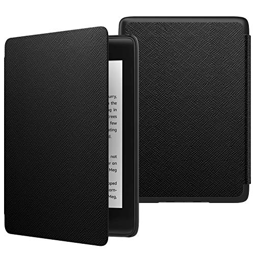 MoKo Case Fits Kindle Paperwhite (10th Generation, 2018 Releases), Thinnest Lightest Smart Shell Cover with Auto Wake/Sleep for Amazon Kindle Paperwhite 2018 E-Reader - Black