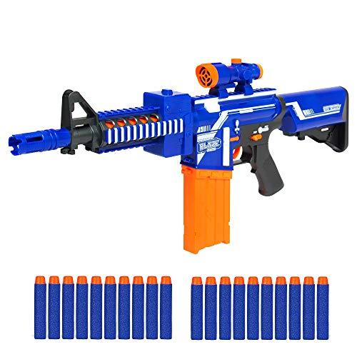 Best Choice Products Kids Softs Foam Dart Blaster Toy Combat Battle Set w/ Long Distance Range, 20 Darts - Multicolor