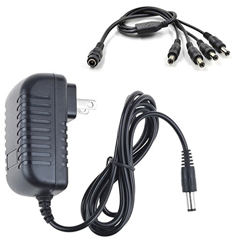 SLLEA AC/DC Adapter for Defender SN301 SN301-8CH-X SN301-8CHX SN301-BCH-X SN301-8CH-002 8 Channel H.264 Smart Video Surveillance Recorder Camera (for 4Pack Camera Use Only)