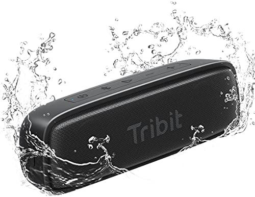 Tribit IPX7 Waterproof Bluetooth Speaker Ultra-Portable 12W Loud HD Sound Bluetooth 5.0 TWS Pairing USB-C Charging, 100ft Range Perfect for Shower Pool Beach Travel, XSound Surf