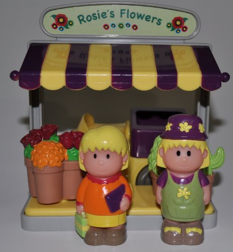 Rosie, Mother, Flowers Stand, Flowers (2), Delivery Truck - Main Street Village (Retired) Collector Toy - Step 2 Mainstreet Collectible Replacement Figure - Loose (OOP Out of Package & Print)