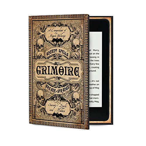 Kindle Paperwhite Case (All Versions Including Latest Waterproof Model) Book Cover Style (Grimoire Magic Spells)