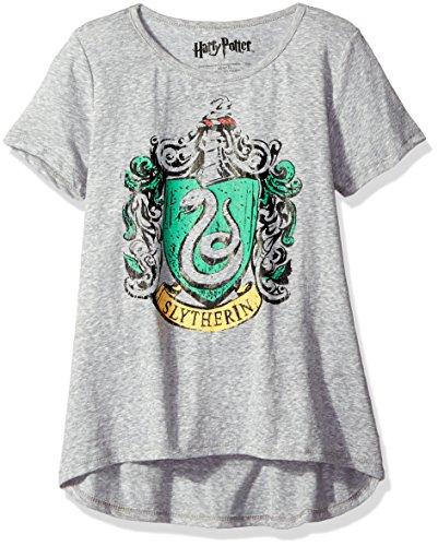 Harry Potter Big Girls' Fashion T-Shirt Shirt, Grey Twinkle, Large