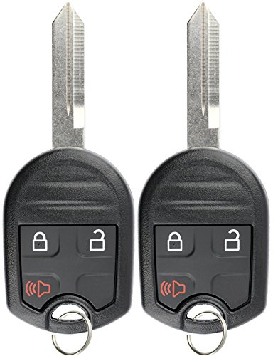 KeylessOption Keyless Entry Remote Control Uncut Blank Car Ignition Key Fob Replacement for CWTWB1U793 (Pack of 2)