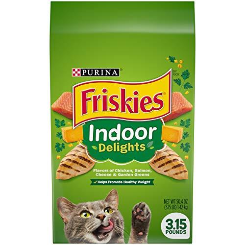 Purina Friskies Indoor Dry Cat Food, Indoor Delights  - 3.15 lb. Bags (Pack of 4)