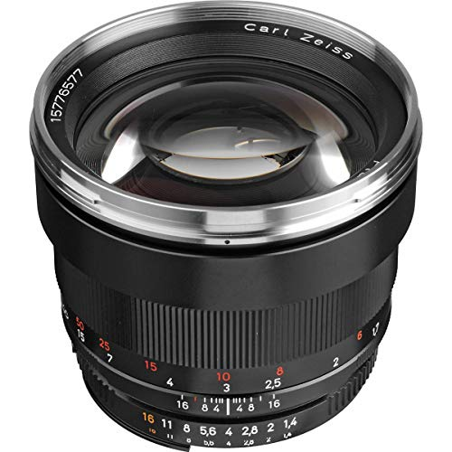 ZEISS Classic Planar ZF.2 T 1.4/85 Telephoto Camera Lens for Nikon F-Mount SLR/DSLR Cameras