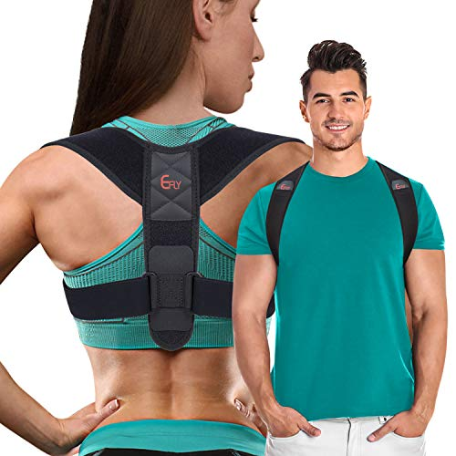 (2020 New) Posture Corrector for Women Men - Posture Brace Adjustable Back Straightener, Comfortable Upper Clavicle Support Device for Thoracic Kyphosis and Back Pain Relief (New (26-48))