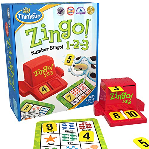 Think Fun Zingo 1-2-3 Number Bingo Game for Age 4 and Up - Award winner and Toy of the Year Nominee (7703)