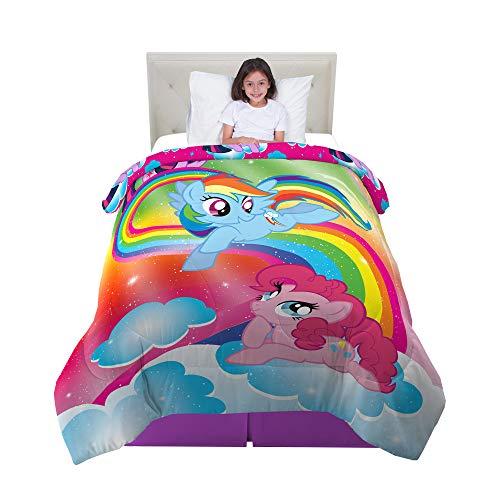Franco Kids Bedding Super Soft Reversible Comforter, Twin/Full Size 72' x 86', Hasbro My Little Pony