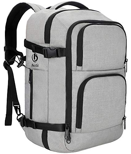 Dinictis 40L Carry on Flight Approved Travel Laptop Backpack for Men Wowen, Business Weekender Bag-Grey