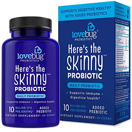 Probiotic and Prebiotic Digestive Health Supplement, Shelf Stable - with 10 Billion CFU, Contains lactobacillus gasseri, Vitamin C - for Men & Women, 15x More Survivability (30)