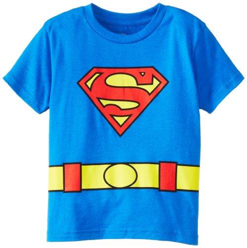 DC Comics Toddler costume Superman Logo Caped T-Shirt, Blue, 2T