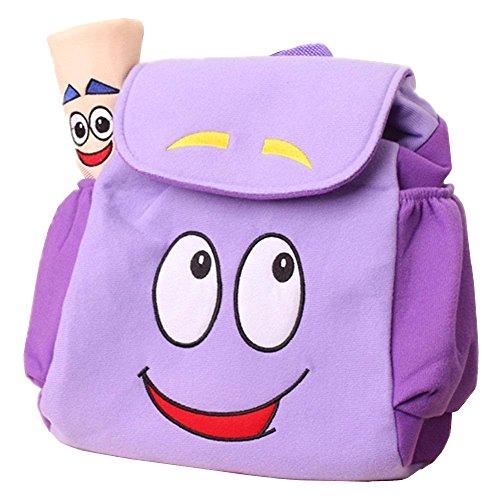 Dora Explorer Backpack Rescue Bag with, Purple, Size 10'H x 9'W x 5'D