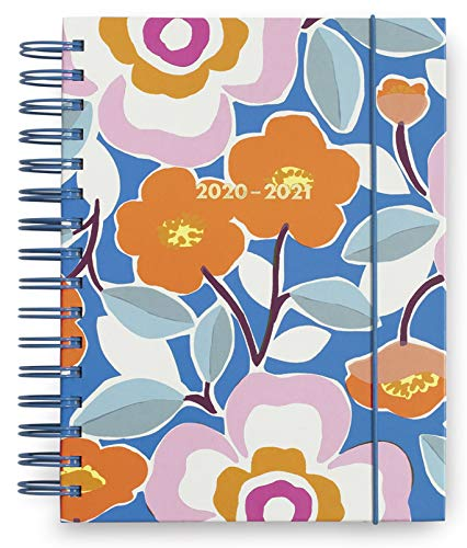 Kate Spade New York Large 2020-2021 Planner Weekly & Monthly, 17 Month Hardcover Planner Dated Aug 2020 - Dec 2021 with Stickers, Pocket, Tab Dividers, Notes/Holiday Pages, Pop Floral
