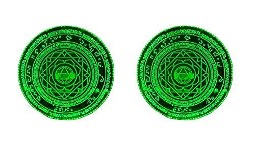 Createcos Super Hero Doctor Magic Shield Luminous Prop Doctor Stephen Cosplay Costume (Green)