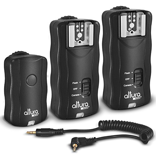 (2 Trigger Pack) Altura Photo Wireless Flash Trigger for Canon w/Remote Shutter (Canon EOS 80D, 77D, 70D, 60D, Rebel T7i, T6i, T6, T5i, T5, T4i, T3i, T3, SL1, SL2 DSLR Cameras)