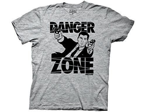 Ripple Junction Archer Danger Zone Adult T-Shirt Medium Athletic Heather