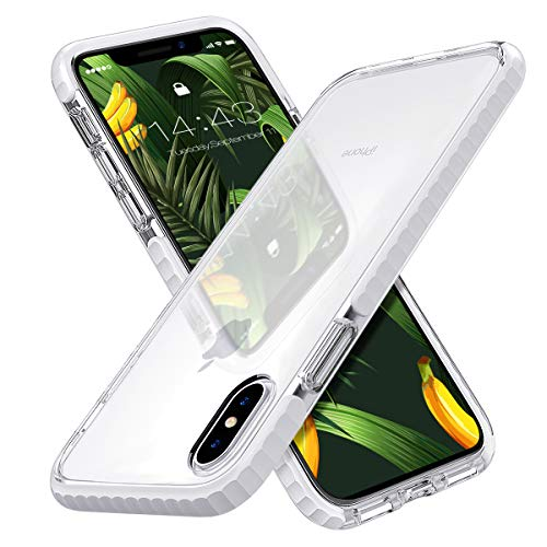 MATEPROX iPhone Xs Max Case Clear Thin Slim Anti-Yellow Anti-Slippery Anti-Scratches Shockproof Bumper Cover Protective Case for iPhone Xs Max 6.5''(White)