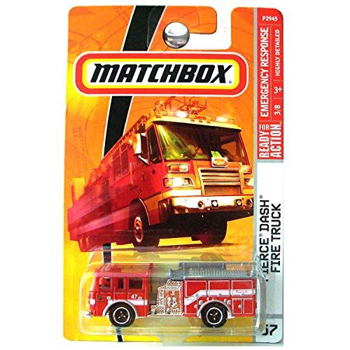 Matchbox 2010 Pierce Dash Fire Truck #57/100 Paramedic, Fire Department, Emergency Response 1:64 Scale Collectible Die Cast Car