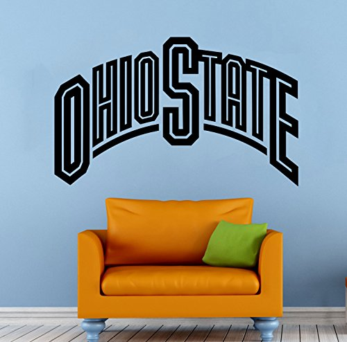 NCAA Ohio State Wall Decal Vinyl Sticker College Football Home Interior Removable Decor (22'high X 40'Wide)