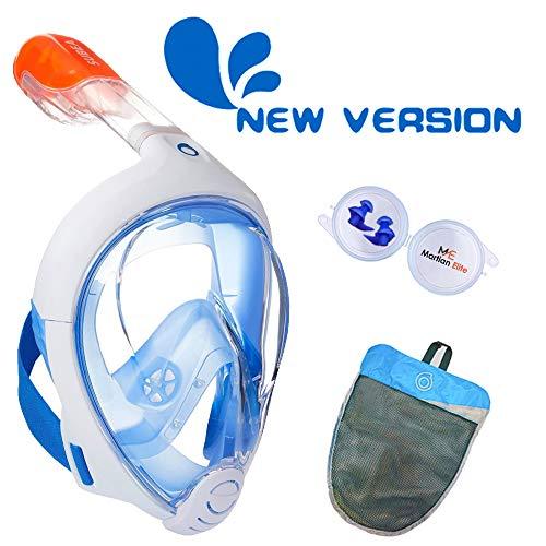 ME MARTIAN ELITE Tribord/Subea Easybreath (2020 Version) Full Face Snorkel Mask with Waterproof earplug, Enhanced Anti-Fog and Anti-Leak