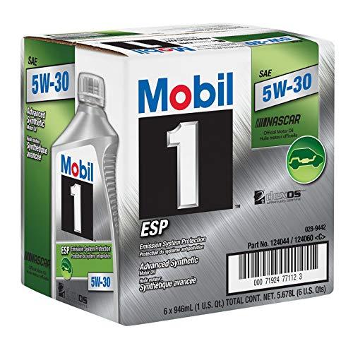 Mobil 1 124044 ESP Formula Engine Oil 5W30 1 Quart Bottles Set of 6