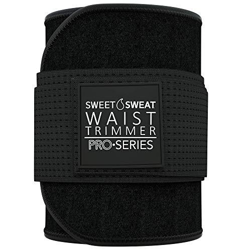 Premium Sweet Sweat Waist Trimmer 'Pro Series' Belt with Adjustable Velcro Straps for Men & Women (X-Large - XX-Large)