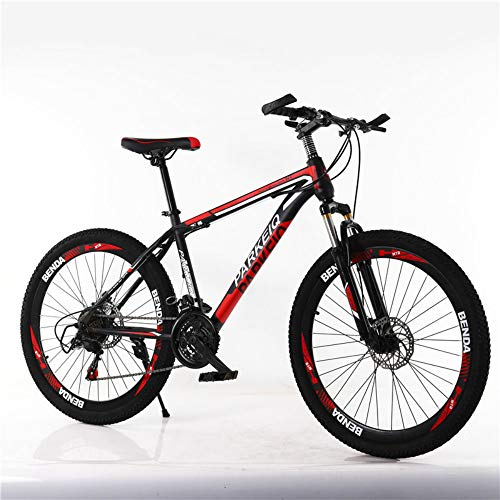 EMAIS 20 Inch Mountain Bike, High Carbon Steel Full Suspension Frame Road Bicycles 21 Speed Gears MTB Bikes for Youths (8-15 Years Old)