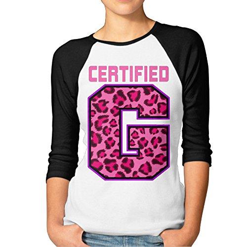 Certified G Enzo Amore Ladies' Raglan Baseball Jersey Tee Shirt Crew Black