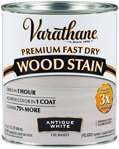 Varathane 297424 1 Quart Antique White Fast Dry Wood Stain