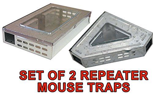 Southern Homewares Multi-Catch Clear Top Humane Repeater Mouse Trap's