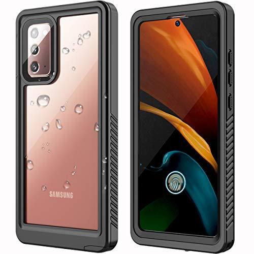 ANTSHARE Samsung Galaxy Note 20 Waterproof Case,Note 20 Case 5G Built in Screen Protector Full Body Protective Shockproof Dirtproof Sandproof IP68 Waterproof Case for Note 20 6.7inch(Black)