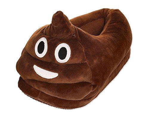 BEST OF SOURCE Fun Warm Cute EMOJ Winter Smiley Poop Shoes Unisex Adult Slippers