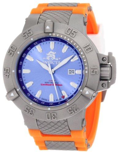 Invicta Men's 1591 Subaqua Noma III Blue Dial Orange Polyurethane Watch