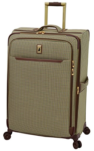 London Fog Cambridge II 29' Expandable Spinner, Olive Houndstooth