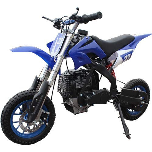 X-PRO 40cc Kids Mini Dirt Bike Pit Bike Dirt Bikes Gas Power Bike Off Road Motorcycle (Blue)