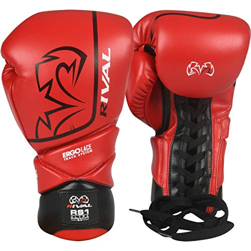 RIVAL Boxing RS1 2.0 Ultra Pro Lace-Up Sparring Gloves - 16 oz. - Red