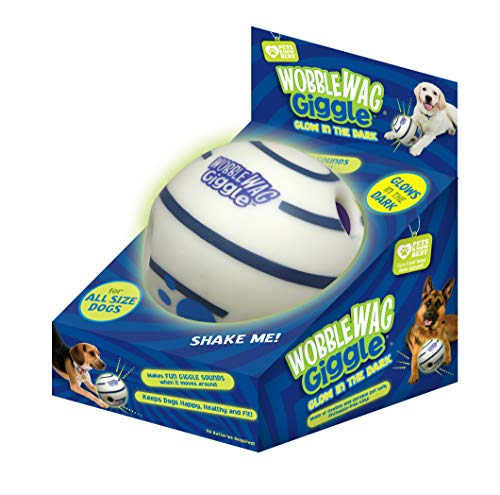 Wobble Wag Giggle Glow in The Dark, Interactive Dog Toy, Fun Giggle Sounds When Rolled or Shaken, Pets Know Best, As Seen on TV