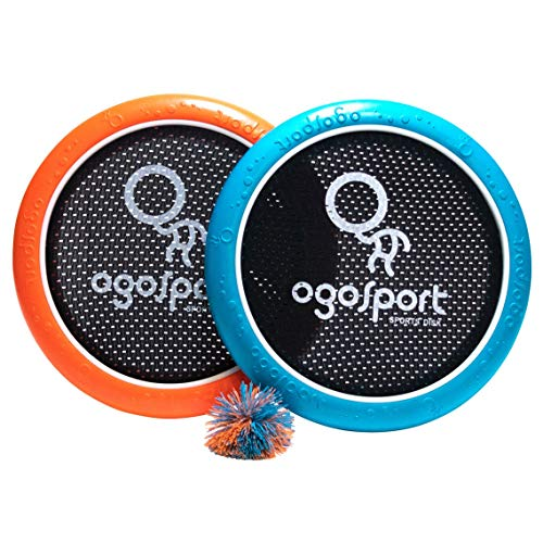OgoDisk Mini Disc Set with Rubber Koosh Ball - Outdoor Bouncy Disk Game for Lawn & Pool - Throw, Toss & Catch - Kids & Adults 8+