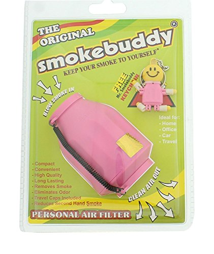 1 X Pink Smoke Buddy - Personal Air Purifiery and Odor Diffuser