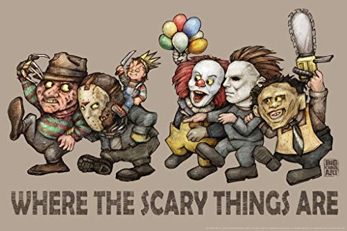 Where The Scary Things are by Big Chris Light Horror Movie Cool Wall Decor Art Print Poster 36x24