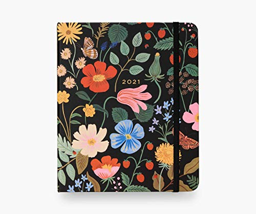 Rifle Paper Co. 2021 Strawberry Fields 17-Month Planner, Aug. 2020 - Dec. 2021, Weekly and Monthly Pages, Includes Inspirational Quotes and Illustrated Endpapers