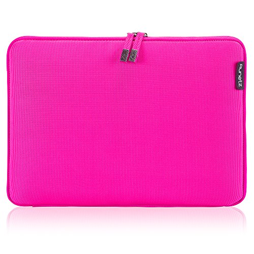 Runetz Sleeve for MacBook Pro 15 inch Sleeve Soft Laptop Sleeve 15 inch Notebook Computer Bag Protective Case Cover with Zipper, Pink