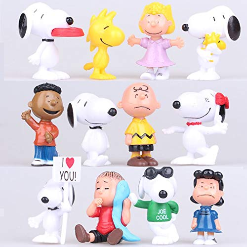 12 Pcs Snoopy Cake Toppers Cakecup Toppers-Kids Birthday Party Cake Decoration Supplies …