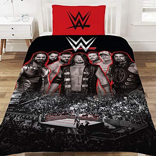 WWE Wrestling Ring Duvet Set (Twin) (Black/Red)
